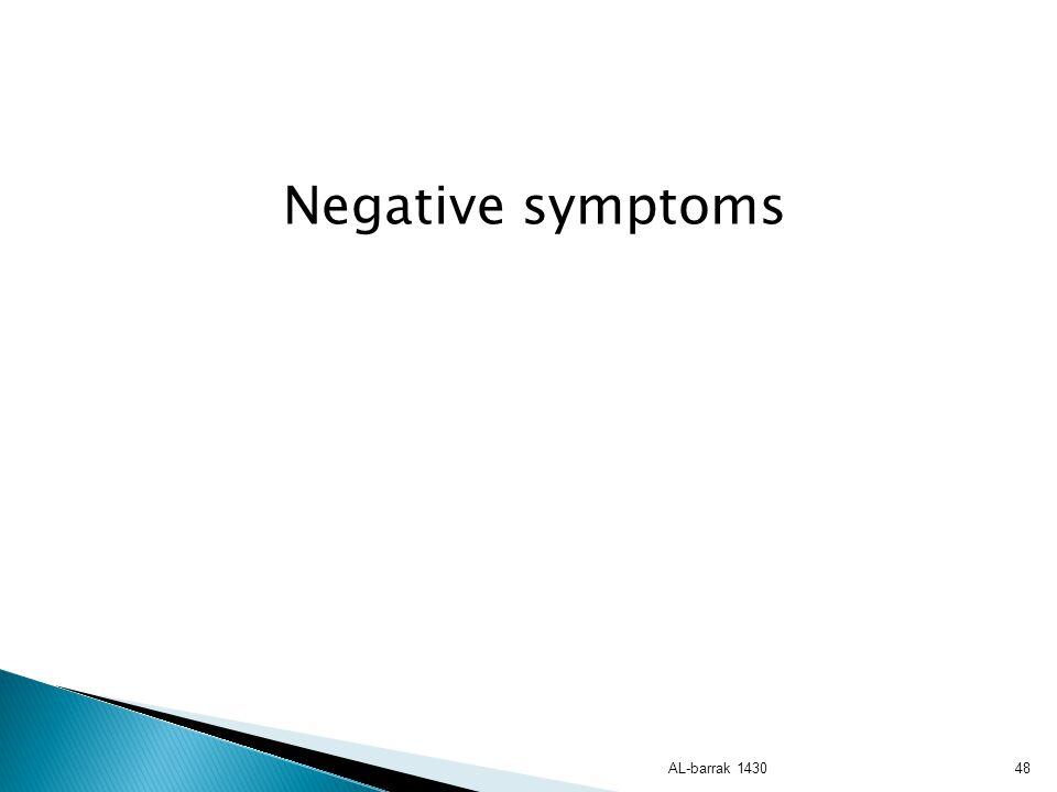 Negative symptoms AL-barrak 1430