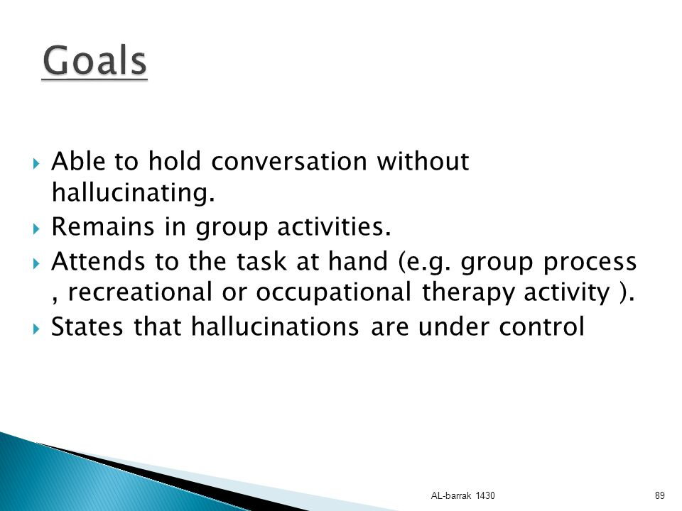 Goals Able to hold conversation without hallucinating.