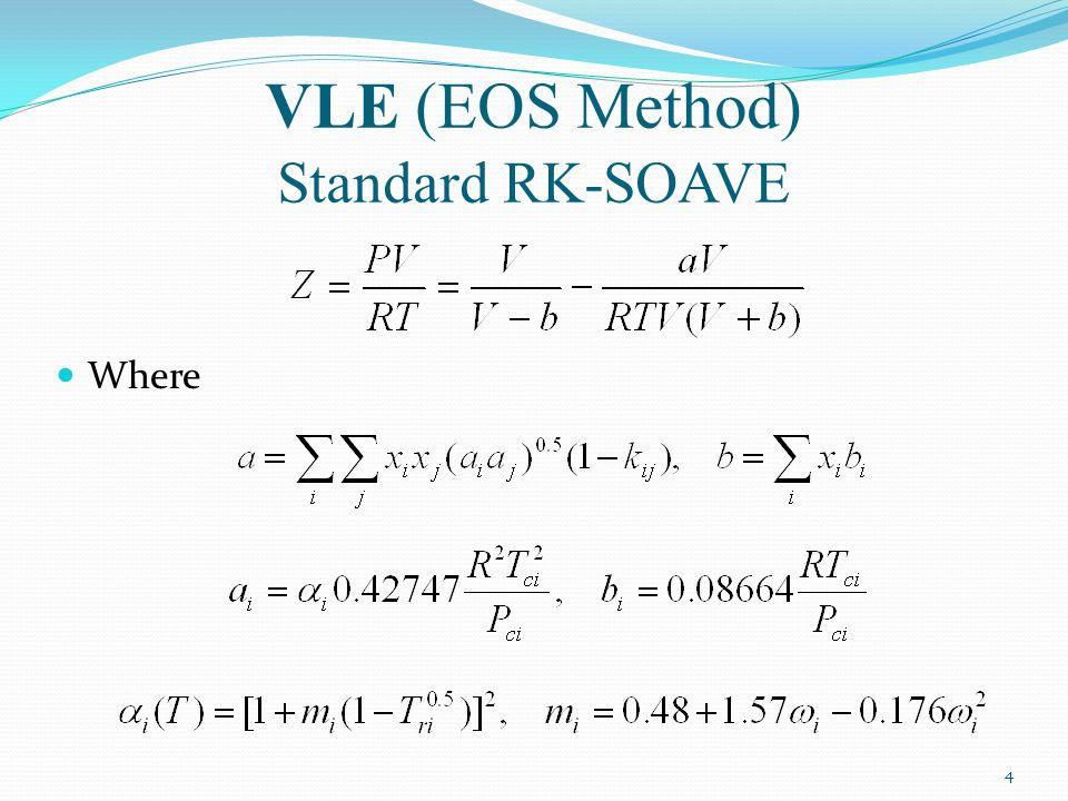 VLE (EOS Method) Standard RK-SOAVE