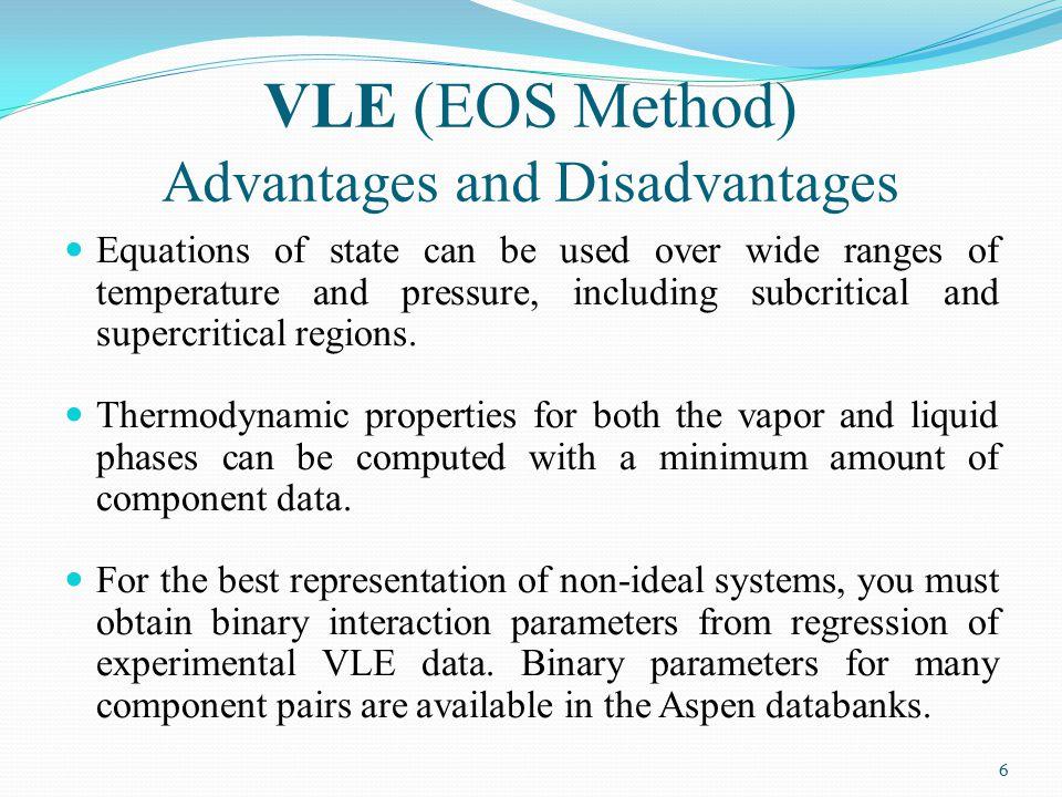 VLE (EOS Method) Advantages and Disadvantages