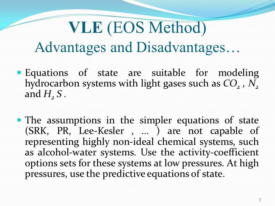 VLE (EOS Method) Advantages and Disadvantages…