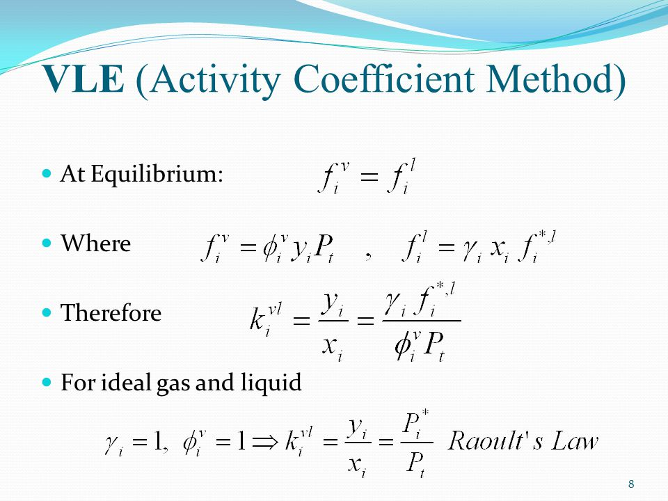 VLE (Activity Coefficient Method)