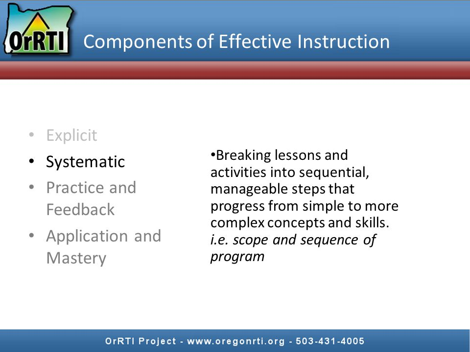 Components of Effective Instruction