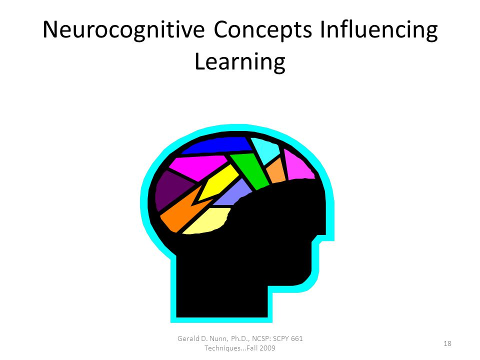 Neurocognitive Concepts Influencing Learning