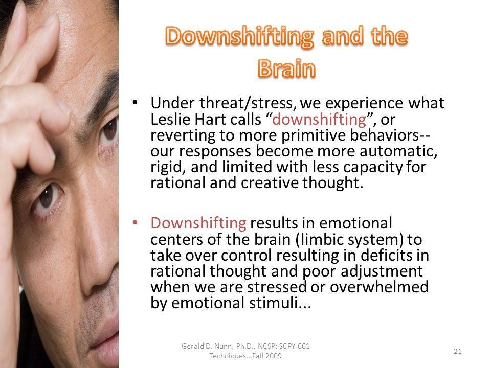 Downshifting and the Brain