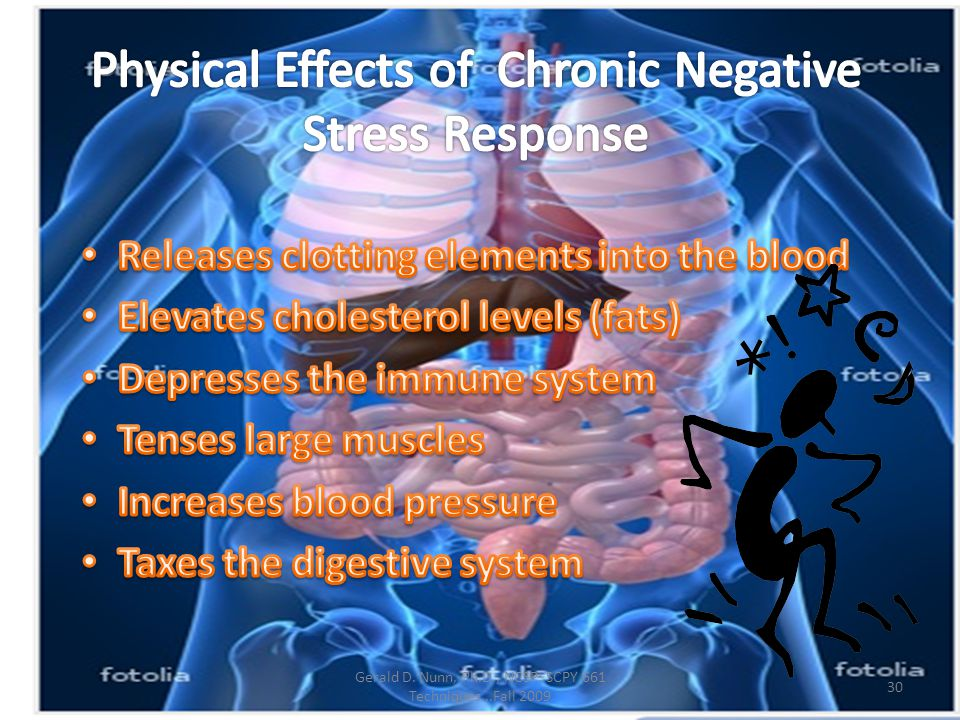 Physical Effects of Chronic Negative Stress Response