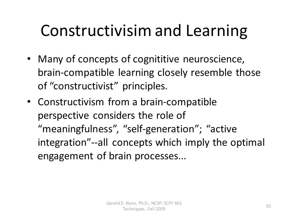 Constructivisim and Learning