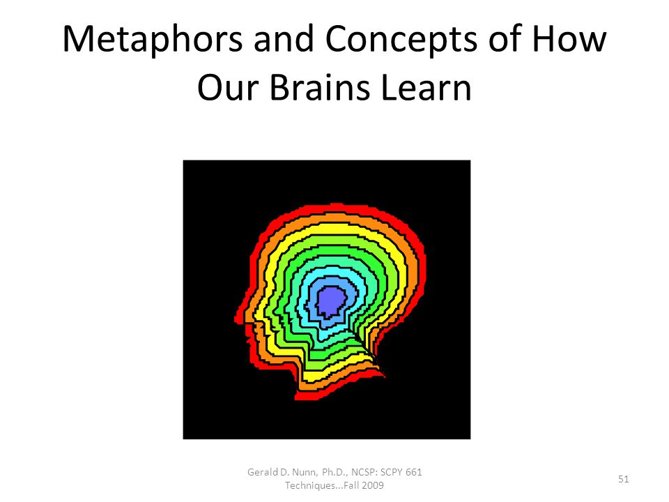 Metaphors and Concepts of How Our Brains Learn