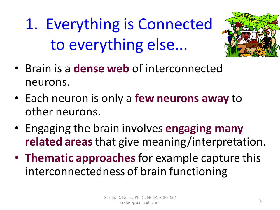 1. Everything is Connected to everything else...