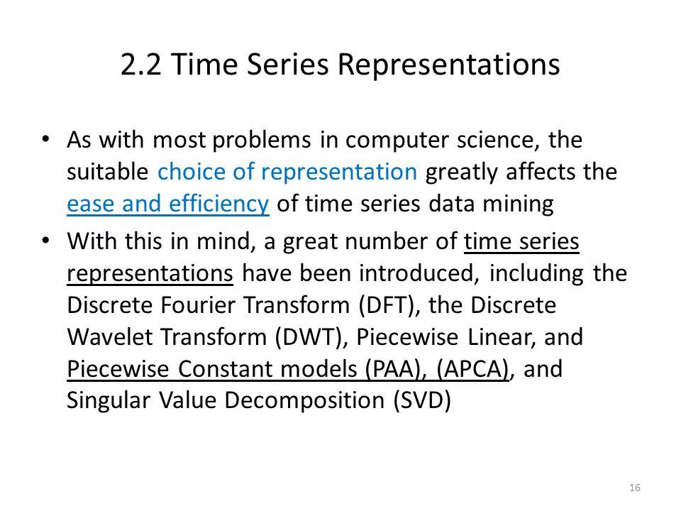 2.2 Time Series Representations