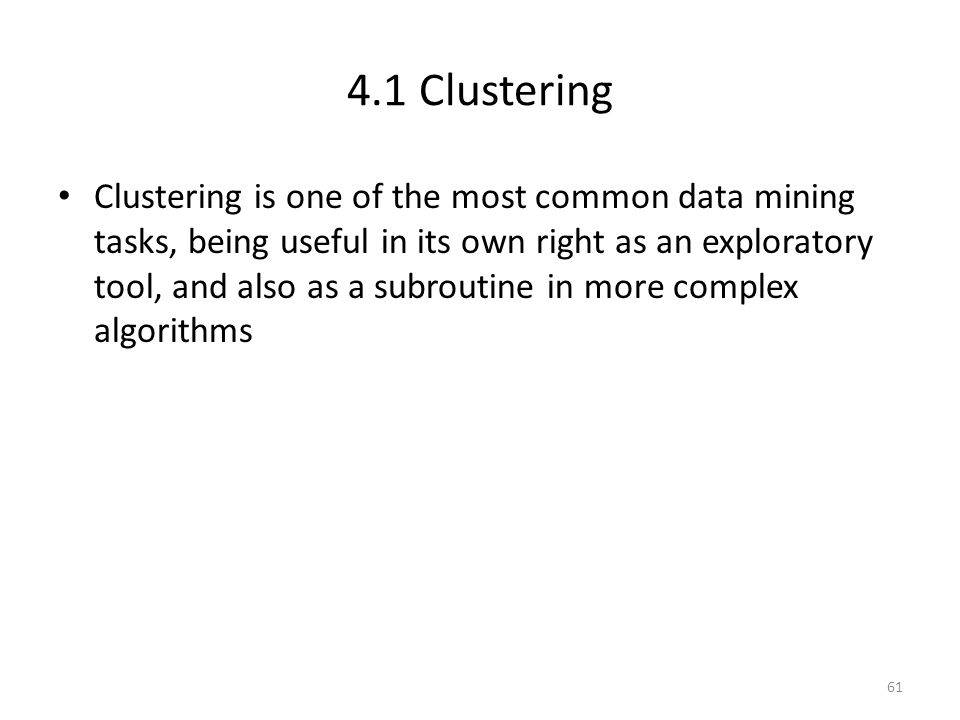 4.1 Clustering