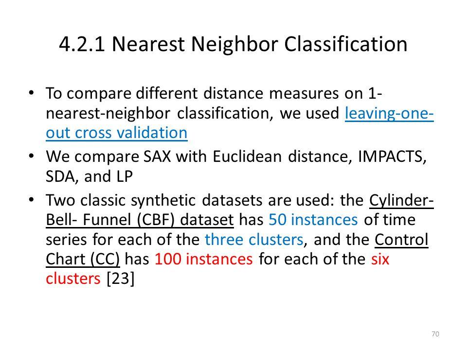 4.2.1 Nearest Neighbor Classification