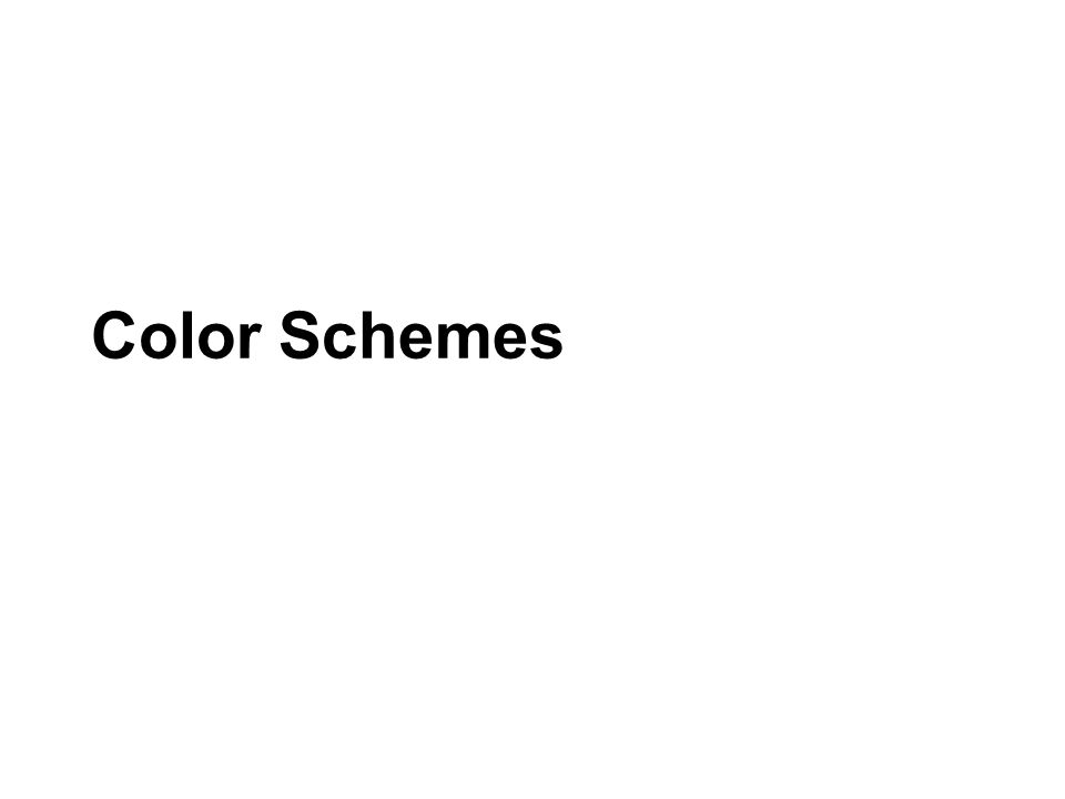 Color Schemes RGB vs. HSB