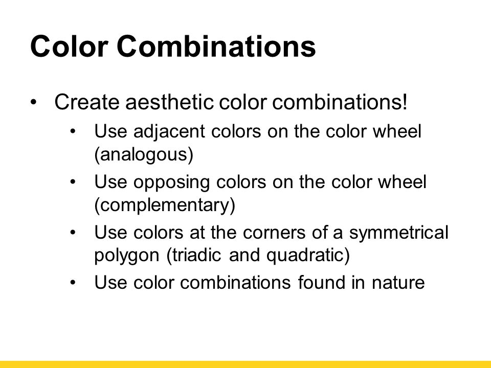 Color Combinations Create aesthetic color combinations!