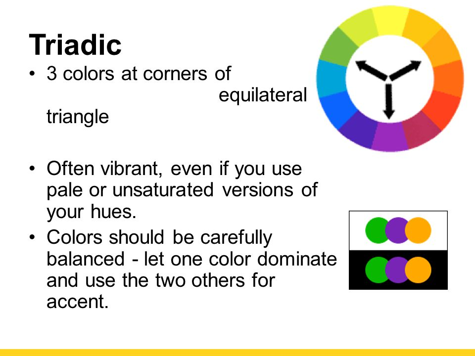 Triadic 3 colors at corners of equilateral triangle