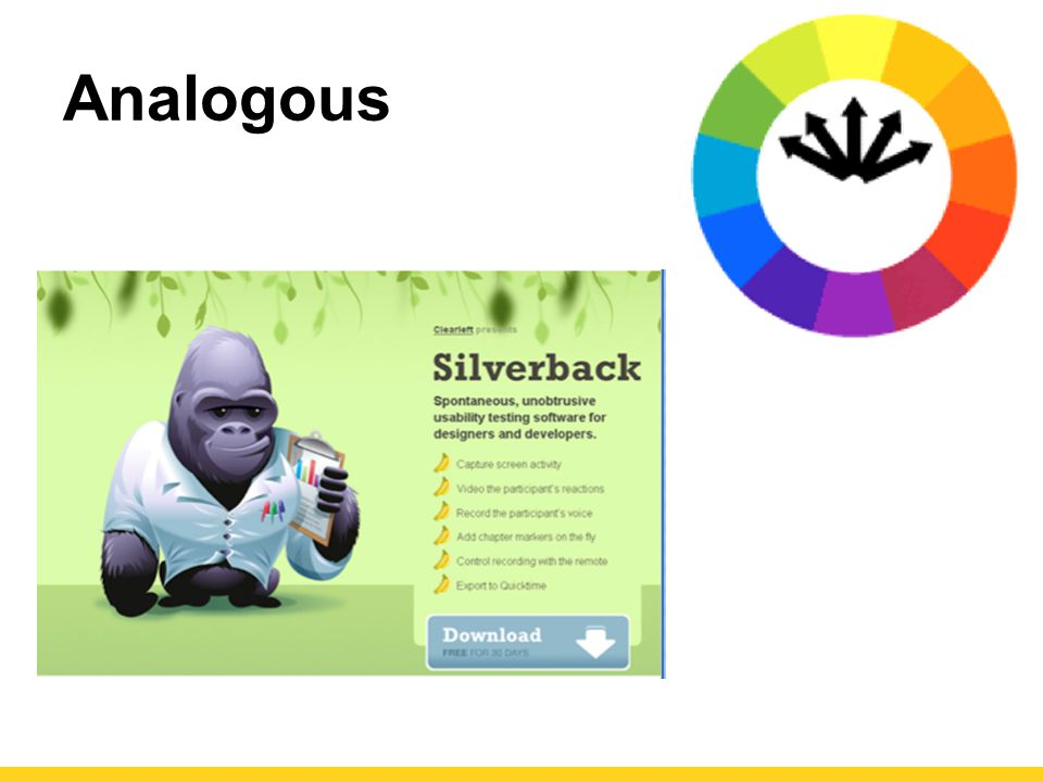 Analogous Blue, Green, Yellow