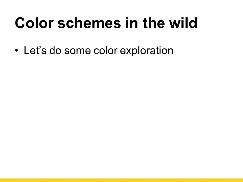 Color schemes in the wild