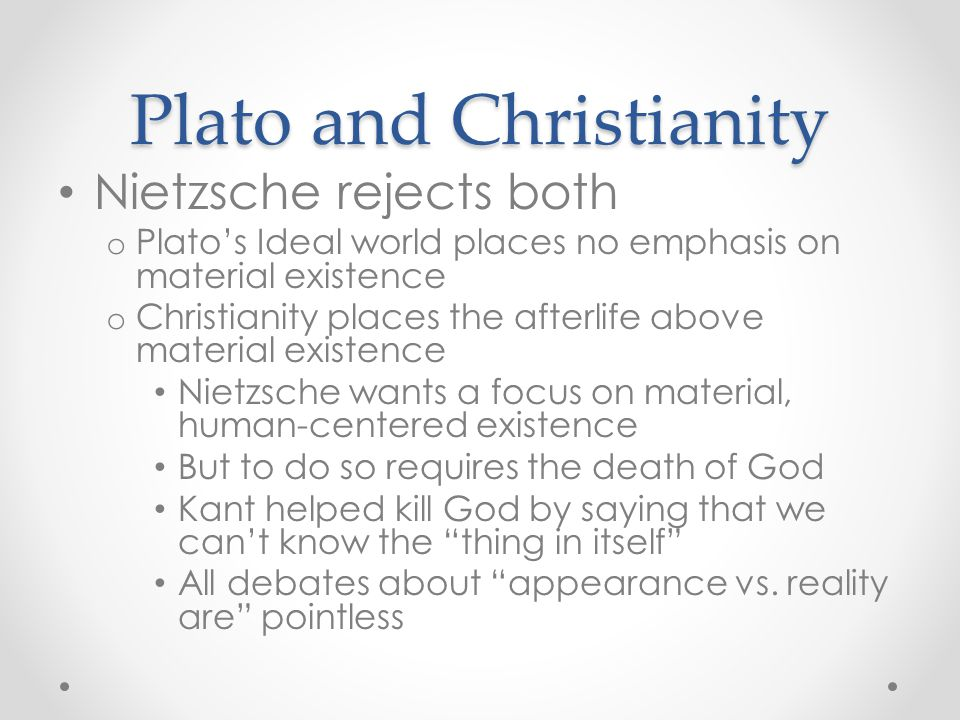 Plato and Christianity
