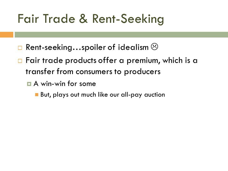Fair Trade & Rent-Seeking
