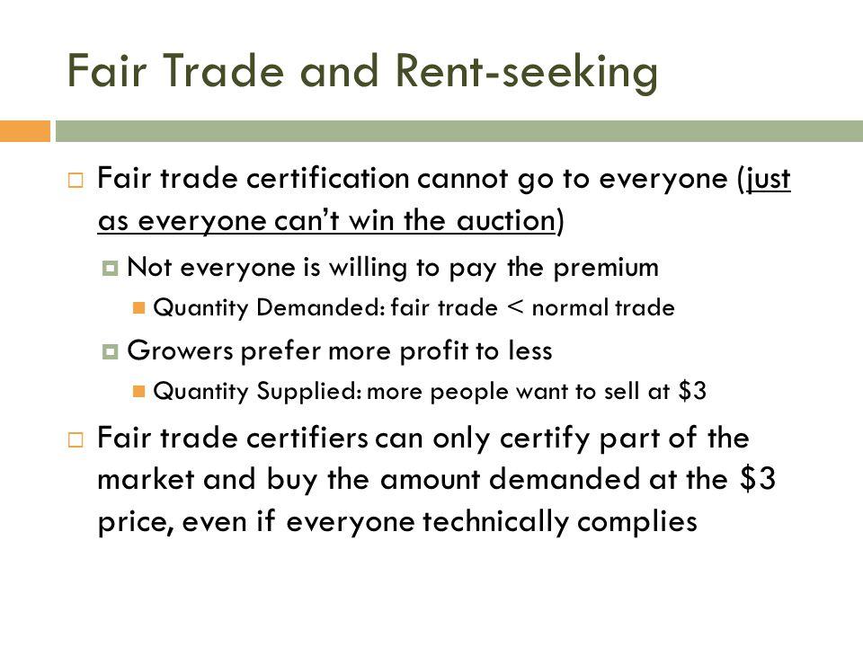 Fair Trade and Rent-seeking