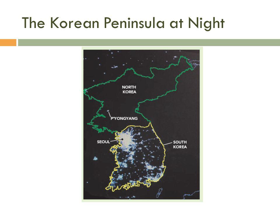 The Korean Peninsula at Night