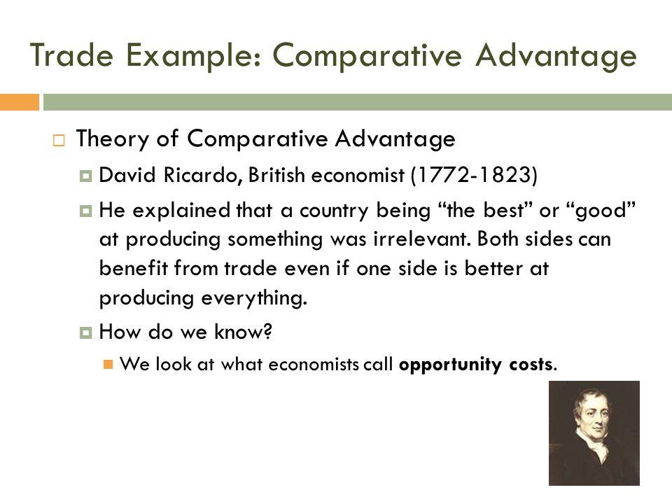 Trade Example: Comparative Advantage