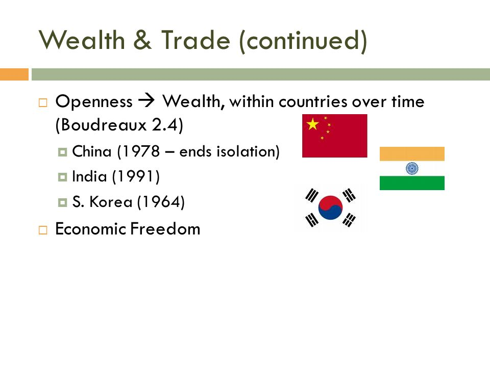 Wealth & Trade (continued)