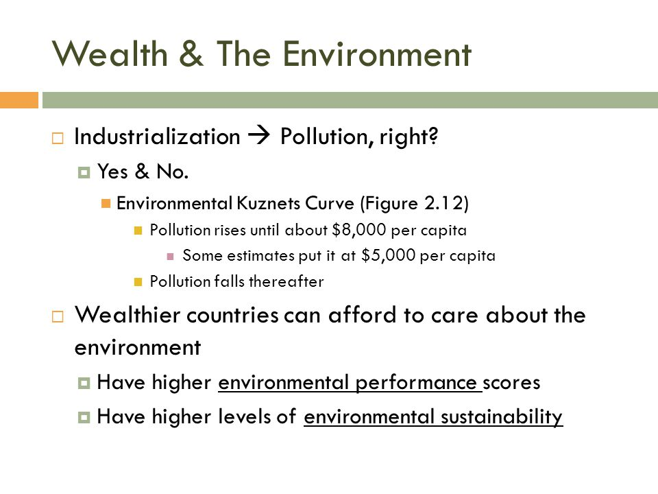 Wealth & The Environment