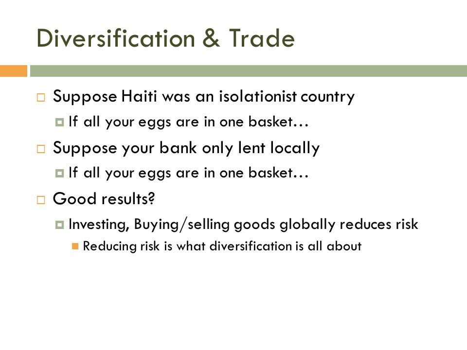 Diversification & Trade