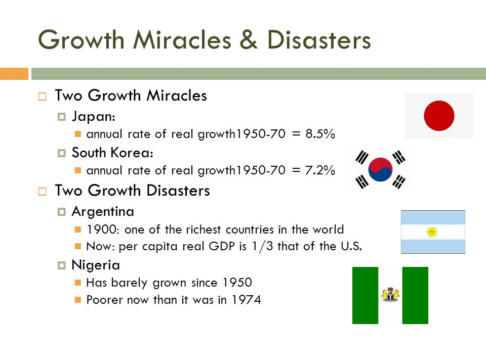 Growth Miracles & Disasters