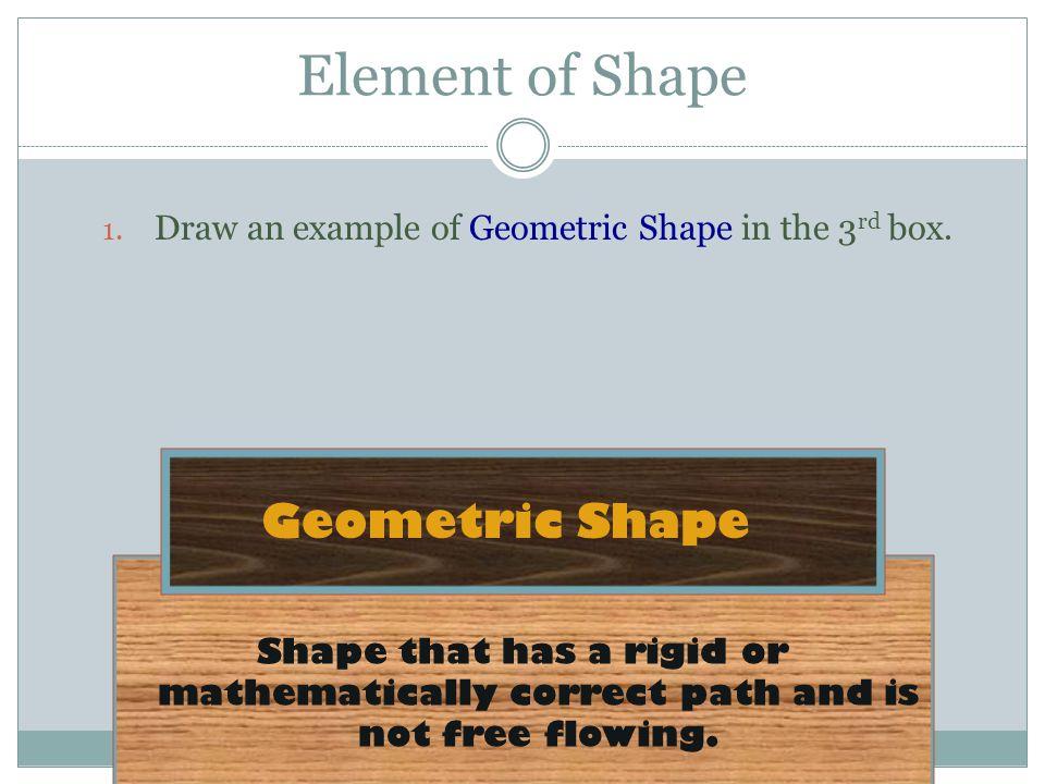 Element of Shape Geometric Shape