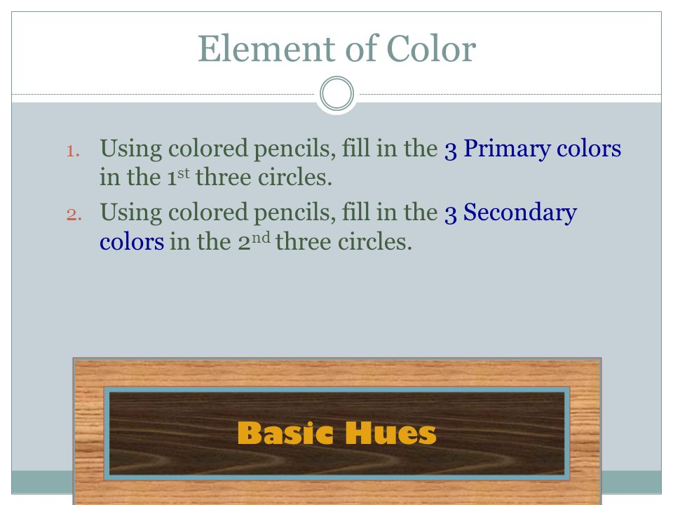 Element of Color Basic Hues