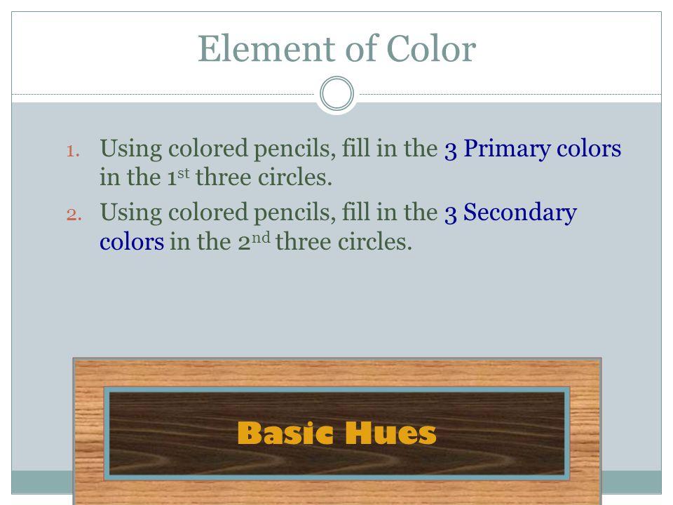 Element of Color Basic Hues