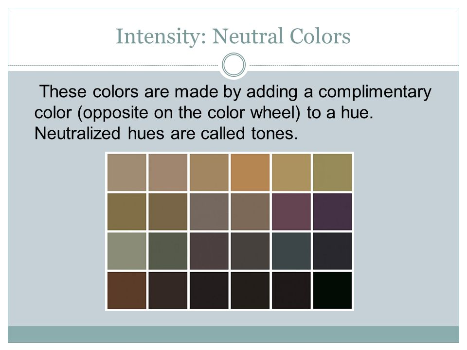Intensity: Neutral Colors