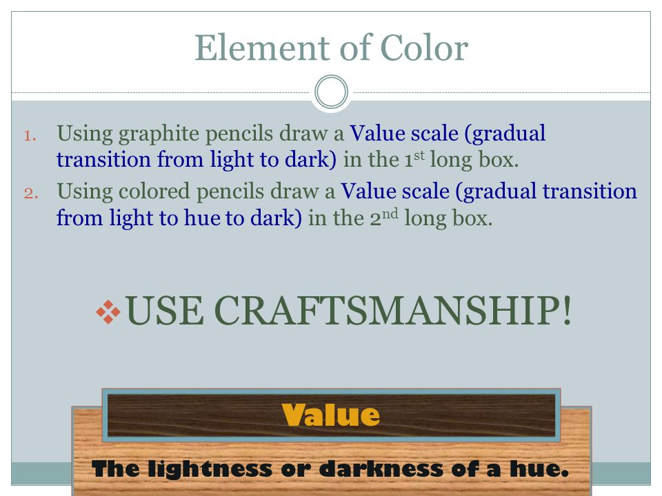 The lightness or darkness of a hue.