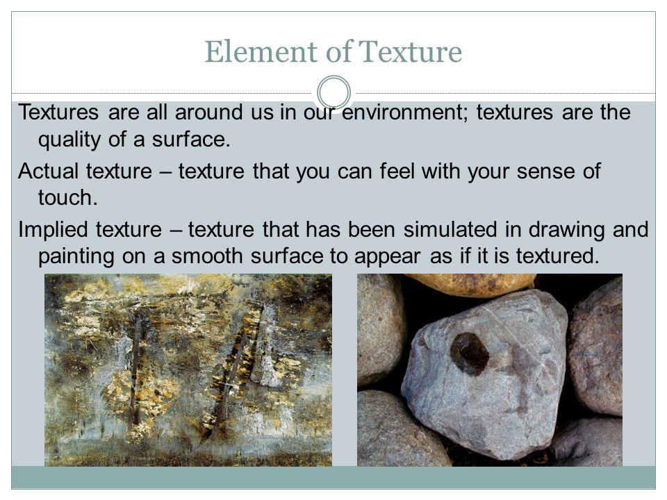 Element of Texture