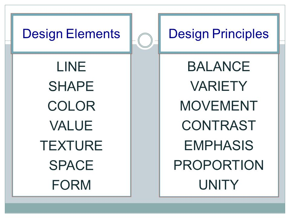 Design Principles Line : Without these building blocks the principles are