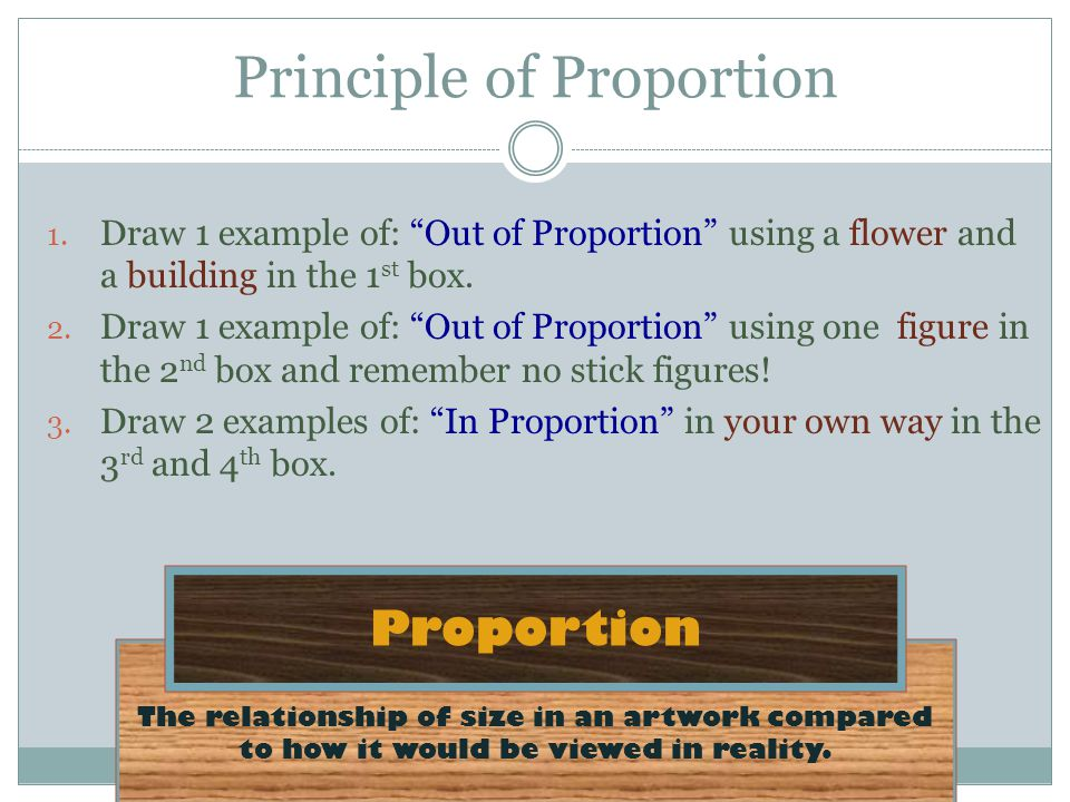Principle of Proportion