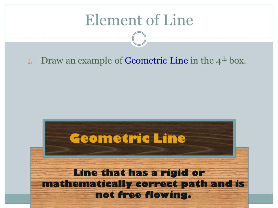 Element of Line Geometric Line