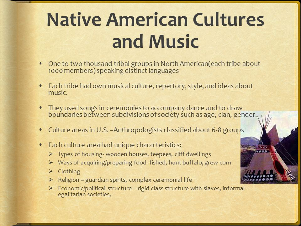 Native American Cultures and Music