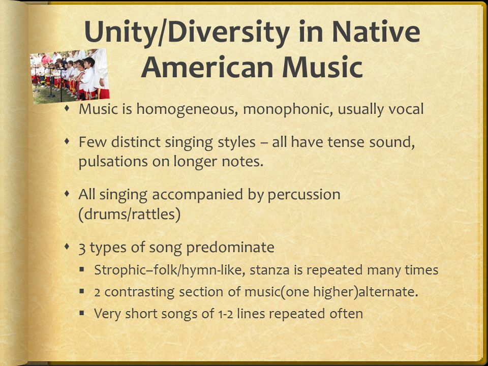 Unity/Diversity in Native American Music