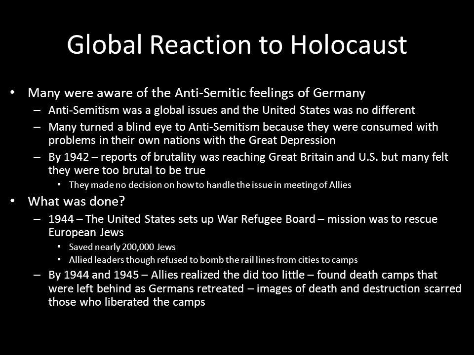 Global Reaction to Holocaust