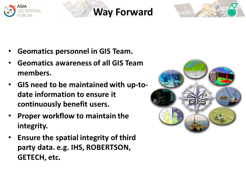 Way Forward Geomatics personnel in GIS Team.