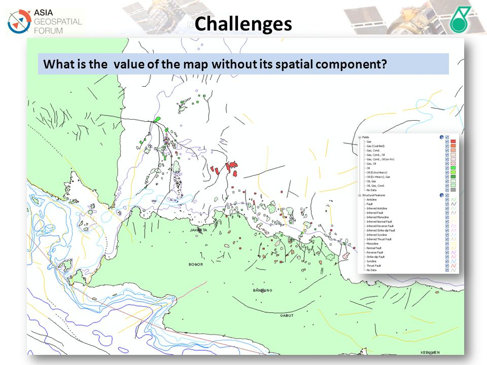 Challenges What is the value of the map without its spatial component
