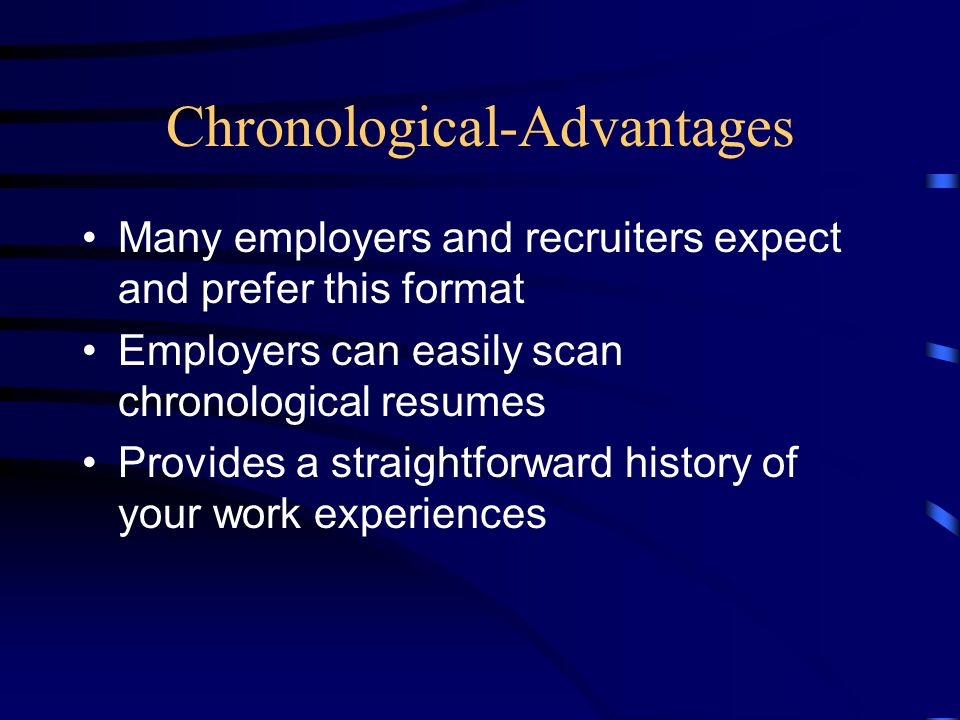 Chronological-Advantages