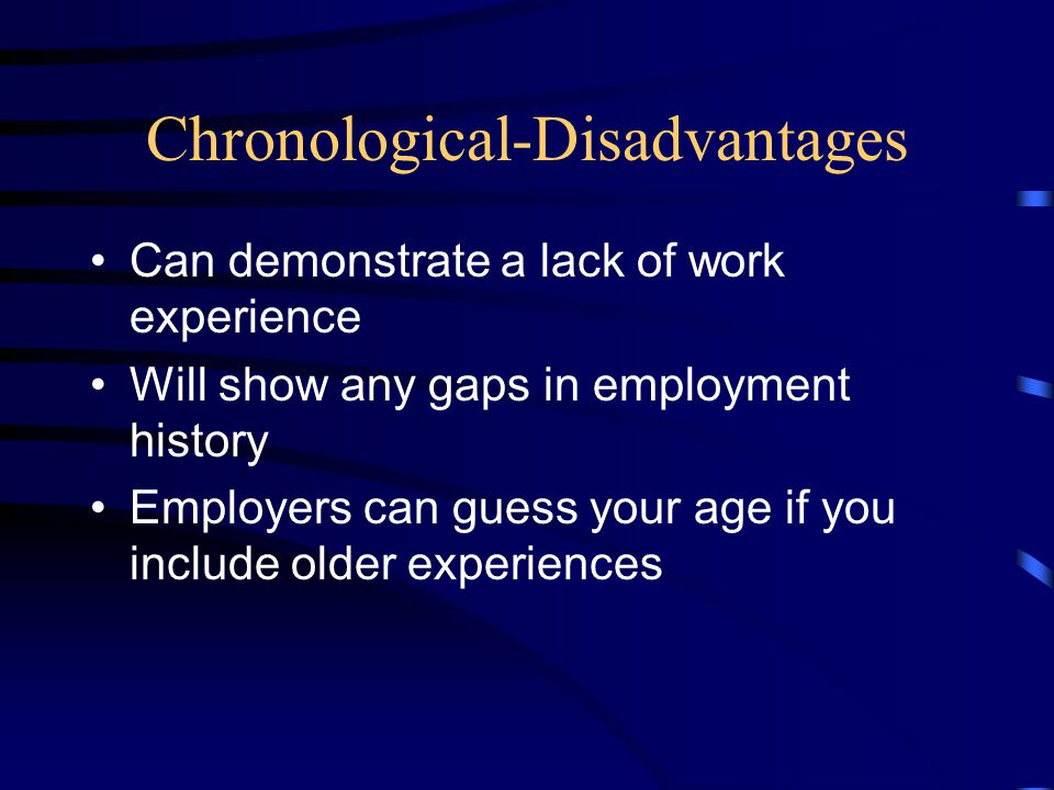 Chronological-Disadvantages
