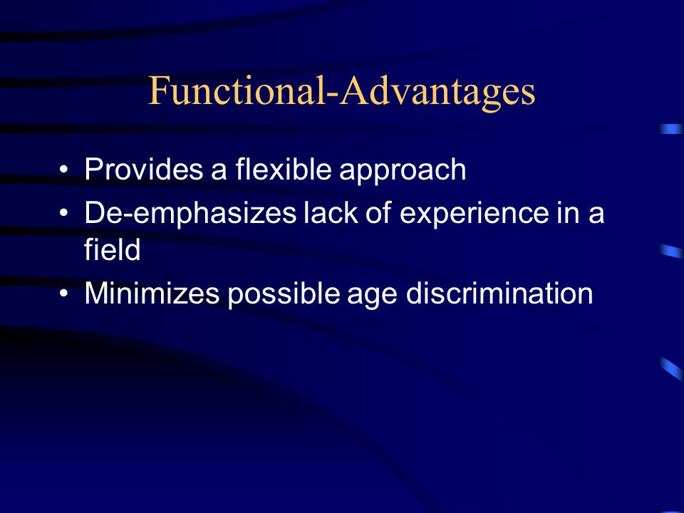 Functional-Advantages