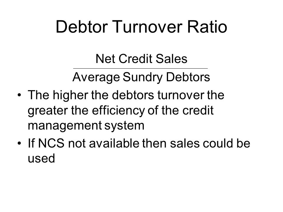 Average Sundry Debtors