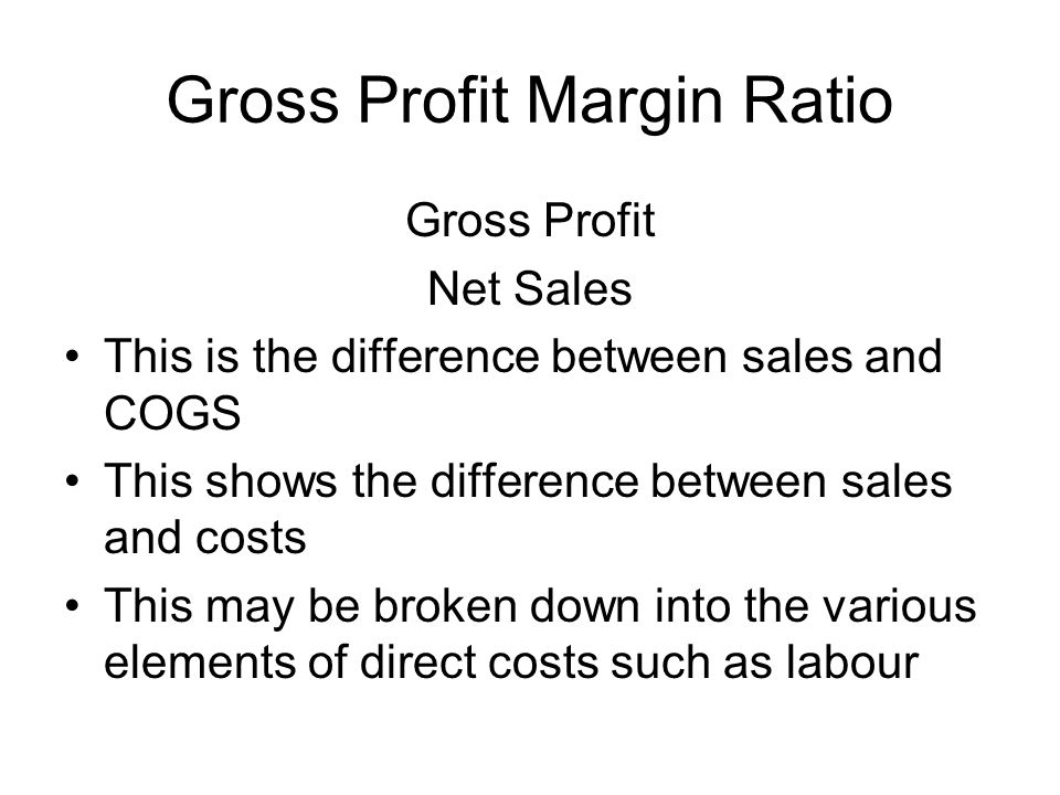 Gross Profit Margin Ratio