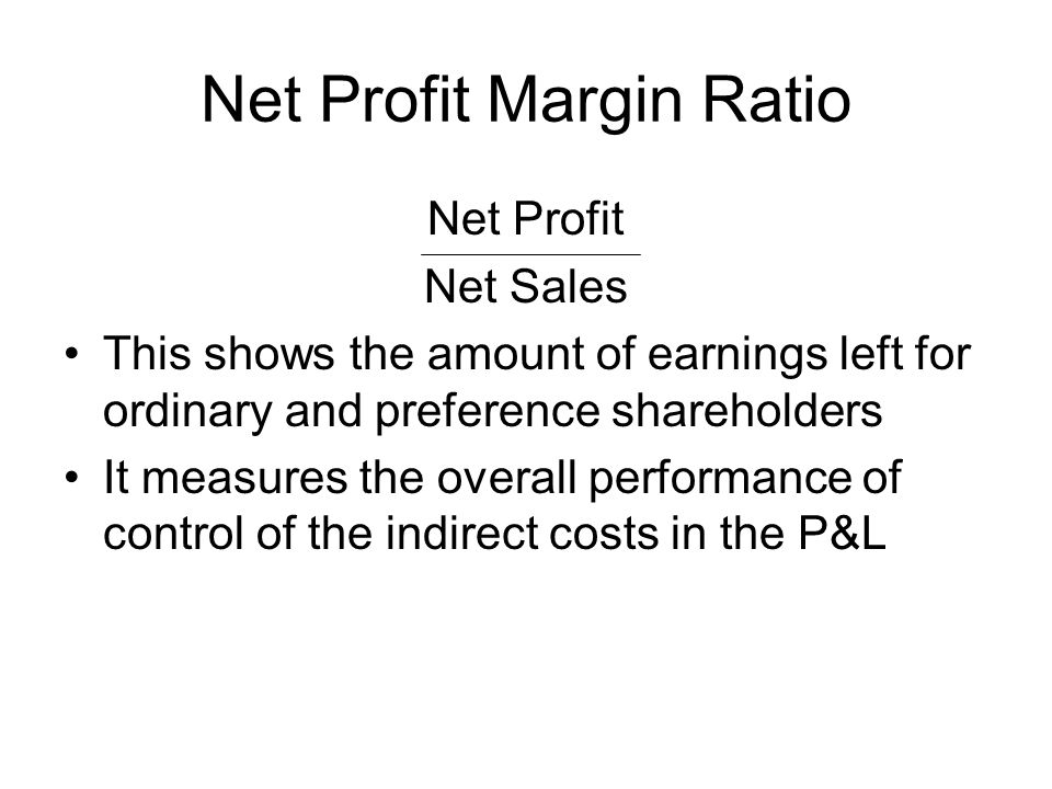 Profit Margin Ratio